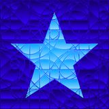 Stained glass star Royalty Free Stock Images