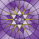 Stained Glass Star. Illustration of stained glass star of david Royalty Free Stock Image