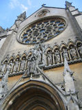 Stained Glass & Statuary. St. Mary's Church in Arundel, West Sussex Royalty Free Stock Photo