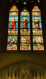 Stained Glass Statues Cathedral NYC Stock Photos
