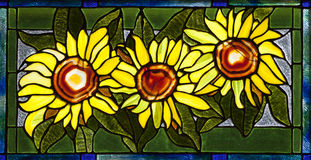 Stained Glass Sunflower Royalty Free Stock Photos