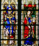 Stained Glass in Rouen Cathedral Royalty Free Stock Photography