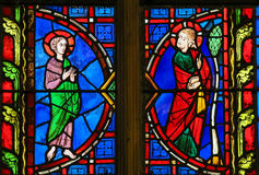 Stained Glass  in Tours Cathedral - Jesus Stock Photography