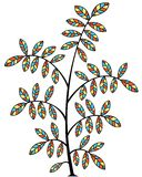 Stained glass tree Royalty Free Stock Images