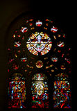 Stained glass in the Tunis Cathedral Royalty Free Stock Photos
