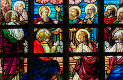 Stained Glass - The Twelve Apostles stock photos