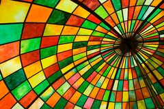 Stained glass umbrella Stock Photos