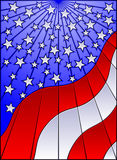 Stained glass US flag Stock Photography