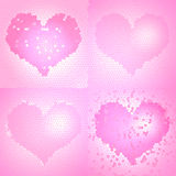 Stained glass Valentine's Day background Royalty Free Stock Images