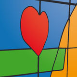 Stained glass (vector) Stock Photography