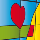 Stained glass (vector) Stock Photo