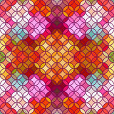 Stained glass vector background. Beautiful seamless pattern. Royalty Free Stock Photos