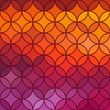 Stained glass vector circle background. Stock Image