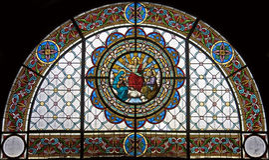 Stained-glass venster 112 Royalty-vrije Stock Fotografie