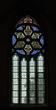 Stained-glass venster Stock Foto