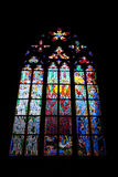 Stained-glass venster Stock Foto's
