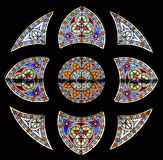 Stained-glass venster 84 stock afbeelding