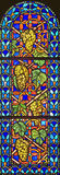 Stained-glass venster 98 royalty-vrije stock afbeeldingen