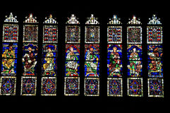 Stained-glass vensters Stock Afbeeldingen