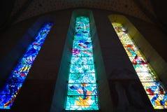 Stained-glass vensters royalty-vrije stock afbeeldingen