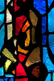 Stained Glass - Vertical Red in Center stock photography