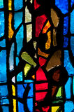 Stained Glass - Vertical Red to Right stock photography