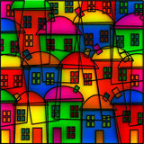 Stained Glass Village Stock Images