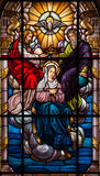 Stained glass virgin ascension Royalty Free Stock Image