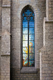 Stained-glass vitrage window Royalty Free Stock Image