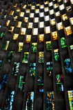 Stained glass wall, Coventry Cathedral Stock Photography