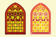 Stained glass warm tones Stock Images