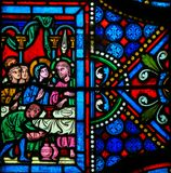 Stained Glass - Wedding of Cana Royalty Free Stock Photo