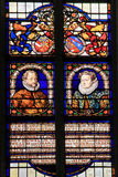 Stained Glass of William I, Prince of Orange and Charlotte of Bo Stock Photo