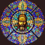 Stained-glass window 100 Stock Photography