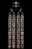 Stained-glass window. Beautiful ancient stained-glass window on bible subjects Royalty Free Stock Photos