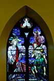 Stained glass window. In a 19th century Canadian church Royalty Free Stock Photos