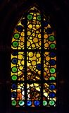 Stained Glass Window. With bubble pattern Royalty Free Stock Photo