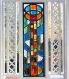 Stained Glass Window. In Japan Stock Photo