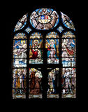 Stained glass window. In Eglise Saint-Eustache church, Paris, France Royalty Free Stock Photography