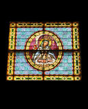 Stained glass window. On church in Dominican Republic Stock Images