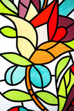 Stained-glass window. Stained glass window - beautiful flower Royalty Free Stock Image