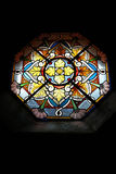 Stained glass window. A colorful stained glass window Royalty Free Stock Photo