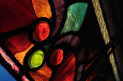 Stained Glass Window. Close up, macro view of a stained glass window Royalty Free Stock Photography