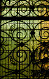 Stained glass window. Inside a church Stock Image