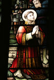 Stained Glass Window. The church of St. Peter and St. Paul, Lavenham in Suffolk England Royalty Free Stock Photo