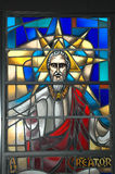Stained glass window. Image od a religious stained glass windor Stock Photos