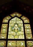 Stained glass window. Of angel, Wat Benjamobopith, Bangkok Thailand stock image