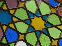 Stained glass window. Portion of stained glass window Stock Image