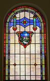 Stained glass window. Beautiful stained glass window in church Stock Photos