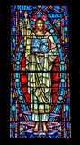 Stained glass window. A church stained glass window containing an image of Jesus Christ Royalty Free Stock Photography